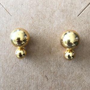 Kate Spade Earrings gold double ball NWOT